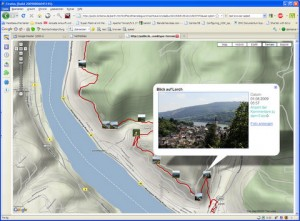 Screenshot Google Maps View